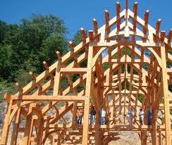 Maison en bois poteaux poutres