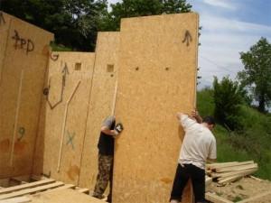 maison panneaux bois massif