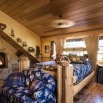 Chambre maison en rondin de bois de luxe