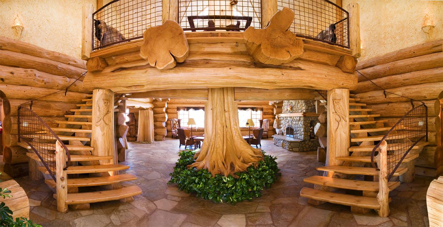 интерьеры деревянных европейских домов