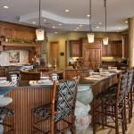 Cuisine maison en rondin de bois de luxe
