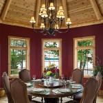 Salle  à manger maison en bois de luxe