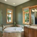 Salle de bain maison en rondin de bois de luxe