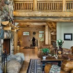 Salon maison en bois de luxe