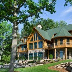 Maison en rondin de bois de luxe