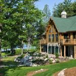 Maison en bois de luxe exterieur