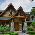 Entrée maison en bois de luxe