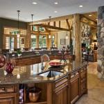 Cuisine maison en bois de luxe