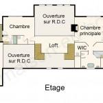 Plan maison en bois de luxe étage