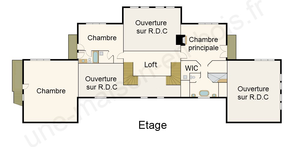 Cheap plan maison en bois de luxe tage with plan maison 60m2 for Plan maison 60m2