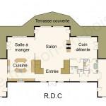 Plan maison en bois de luxe RDC