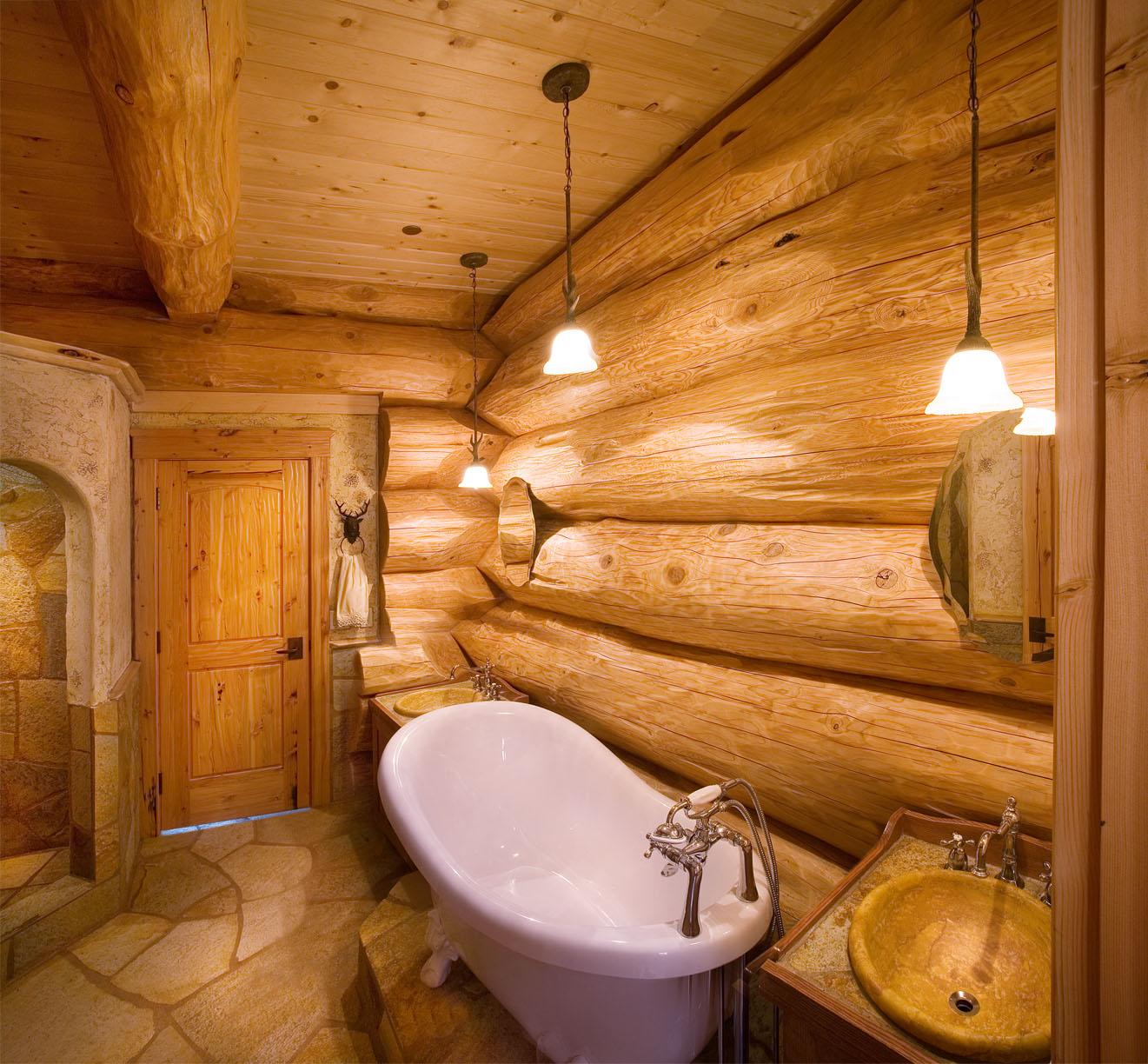 Une maison en bois de luxe dans la nature for Bois hydrofuge pour salle de bain
