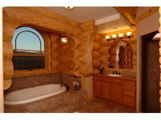 maison en bois de luxe salle de bain