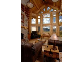maison en bois de luxe salon 1