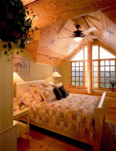 Chambre maison en bois