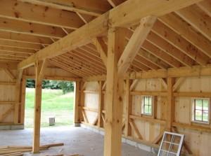 Maison en bois poteau poutre