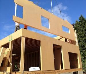 maison en panneau bois massif