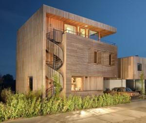 maison bois design à étage
