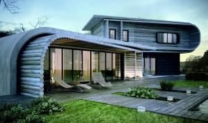 maison en bois grise