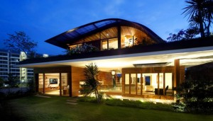 maison en bois lumineuse