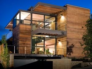 maison en bois modulaire