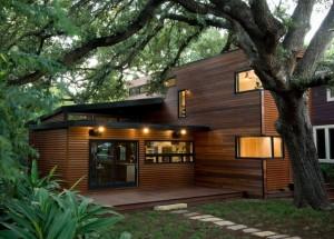 maison en bois nature